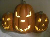 """BLOW MOLD Pumpkins 12"""" X 20""""STACK  Light Halloween Jack O Lantern  BlowMold"""