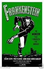 FRANKENSTEIN Boris Karloff Movie Poster Vintage Digitally Remastered Art Print