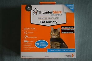ThunderShirt Insanely Calm Cat Anxiety Jacket, Solid Gray, Large, New