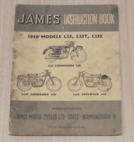 JAMES L25 L25T L25S Original Owners Motorcycle Handbook Oct 1958