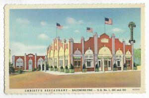 CHRISTY'S RESTAURANT,BALTIMORE PIKE~GLEN MILLS,PA -CT 1935