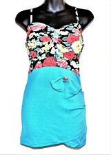 Floral Bodycon Slip Dress - Sky Blue - One Size  New FREE SHIPPING/RETURNS