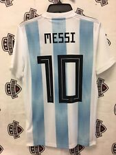 "Lionel ""Leo"" Messi Argentina 2018 World Cup Home White Jersey Medium"