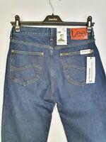 New LEE MORTON Relaxed Straight Denim Jeans Pants W29 L34 Blue Cotton Org Rigid