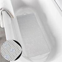 Pretty Long Anti Slip PVC Bath Shower Mat Rubber Soft Cushioned Suction Cups