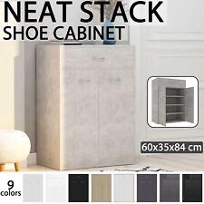 vidaXL Shoe Cabinet Chipboard Storage Box Case Organiser Rack Multi Colours