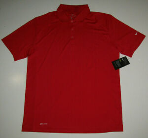 NIKE Red Dri-Fit Active Golf Polo NWT Mens Shirt Sz XL Extra L FREE SHIPPING $80