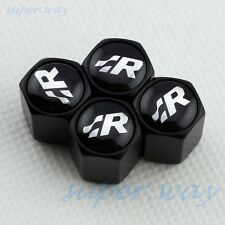 BLACK Wheel Tire Tyre Valve Stem Air Cap CC Scirocco R36 GOLF POLO RACING R-LINE