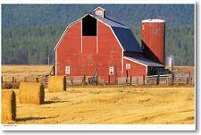 American Farm - Big Red Barn Americana POSTER