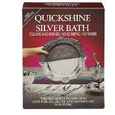 QUICKSHINE SILVER BATH CLEANS YOUR SILVER QUICKLY
