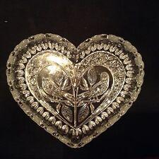 Hofbauer Byrdes Bleikristall beautiful heart shaped dish with bird, German