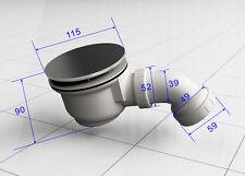 Siphon 90 mm Ablauf Duschkabine Ablaufgarnitur Duschtasse Duschwannenablauf
