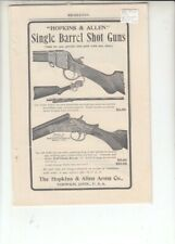 NORWICH CONN HOPKINS & ALLEN ARMS CO AD-SINGLE BARREL SHOT GUNS
