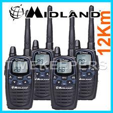 12 KM MIDLAND G7 PRO DUAL BAND Walkie Talkie Radio a due vie PMR licenza LIBERA QUAD