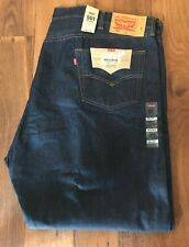 LEVI'S BIG&TALL 501 MENS SHRINK-TO- FIT BUTTON-FLY JEANS 52X32 RIGID BLUE