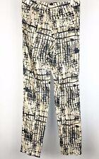 J Brand Womens Size 2 Linen Pants Trousers Beige Black