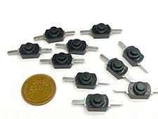 10 Pieces Small Black Push Button Switch Latching Locking Flashlight 1a 2pin B5