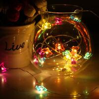 Christmas LED Copper Wire String Fairy Light Party Decor Star Room Xmas Decor