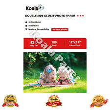 Koala 100 Sheets 11x17 Double Sided Glossy 42lb Inkjet Printer Photo Paper Canon