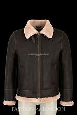 Mens Sheepskin Fur Jacket PACIFIC Aviator Military Bomber RAF Jacket Beige Fur