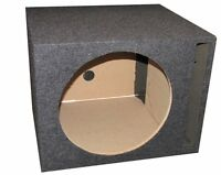"Q-Power QSBASS10 Single 10"" Vented Slot Ported Empty Subwoofer Sub Enclosure Box"