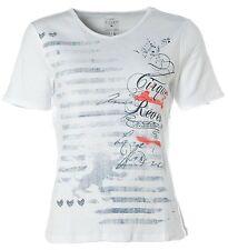X4209 KITARO Kurzarm Shirt T-Shirt V-Ausschnitt 38 weiß Cirque des Reves NEU