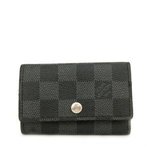 Louis Vuitton Damier Graphite Multicles 6 Ring Key Case /C0519