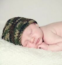 0/6 Month Baby Boys Girls Unisex Camo Hat - Camouflage, Army, Hunting, Military