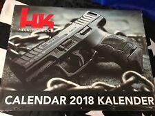 2018 HECKLER & KOCH HK CALENDAR Promo Shot Show MR556 MR762 P30 G36 VP9 MP5 SP5K
