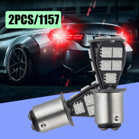 2x 1157 BAY15D P21/5W 18SMD Red CANBUS Error Free Brake Tail Car LED Light Bulbs