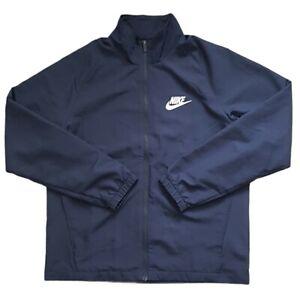Mens Nike Tracksuit Jacket Navy Swoosh Size Large Lightweight