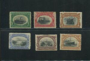 United States Postage Stamps #294-299 Mint Hinged OG Set