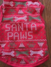 XS SANTA PAWS T-Shirt Dog Clothes NEW! Tiny Little Dog Puppy CUTE!