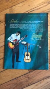 1962 Gibson Guitars Banjos Folk instrument catalog original full line