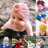 couleur newborn beanie chapeau enfants petit turban hiver pac balle noeud