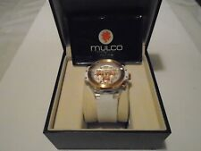 Mulco Women Titans Chronograph Clear Case White Silicone Watch **NEEDS BATTERY**