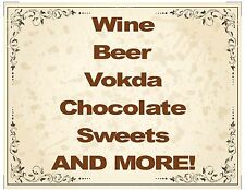 Edible icing topper A4 sheet vodka wine rum etc label glass for cake decorating