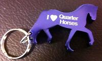 New Quarter Horse Laser Engraved Key Chain Bottle Opener