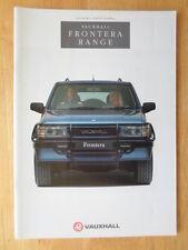 Vauxhall Frontera range 1992 UK Mkt prestige sales brochure - inc Sport