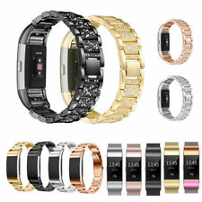 For Fitbit Charge 2 Rhinestone Stainless Steel Replacement Metal Bracelet Band