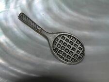 Figural Pin Brooch – marked on Estate Metzke Signed Carved Pewter Tennis Racket