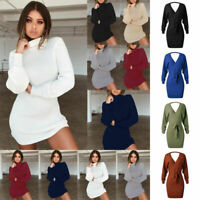 Women Cashmere Top Autumn Winter Knitted Turtleneck Sweater Pullover Warm Jumper