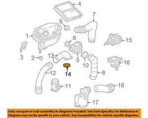 Mercedes MERCEDES-BENZ OEM SLK230 Air Cleaner Intake-Adapter Gasket 1111411080