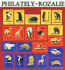 Safety Matches Czechoslovakia set Matchbox Labels Prague Zoo (N 22)
