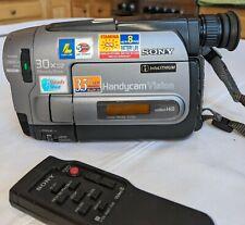 New ListingSony Video Camera Handycam Vision Hi8 Video8 Camcorder Ccd-Trv62 + Accessories!