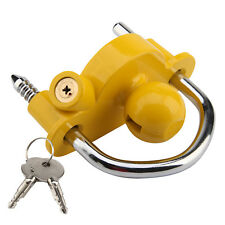 Caravan Trailer Tow Ball Hitch Lock Universal 50mm Hitchlock Coupling Security