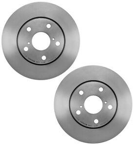 For Toyota Lexus Scion Pair Set of 2 Front Brake Disc Rotors Vented Coat Brembo