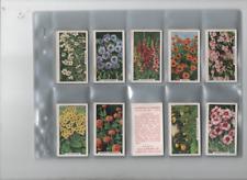 cigarette cards garden flowers full set 1938