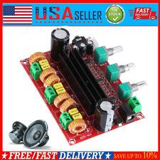 TPA3116D2 2.1 Digital Audio Amplifier Board DC 24V 80Wx2+100W Subwoofer Kit US