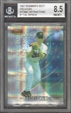 1997 Bowman's Best Preview Atomic Refractors #BBP7 Cal Ripken Jr. BGS 8.5 NM-MT+